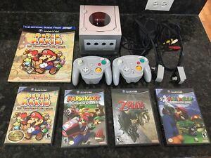 Nintendo GameCube with 4 complete rare games,2 Wavebird