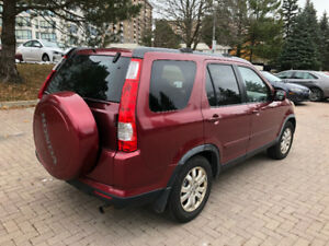 2005 HONDA CR-V EX-L(ONLY 169 KM) LEATHER, SUNROOF,NO RUST,CLEAN