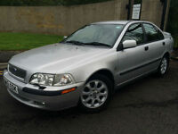 2001 51 VOLVO S40 D 4 DOOR DIESEL IN SILVER