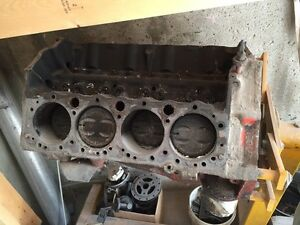 350 Chevy short block with stand