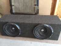 2 x 10 inch kenwood car subs subwoofers 45lbs
