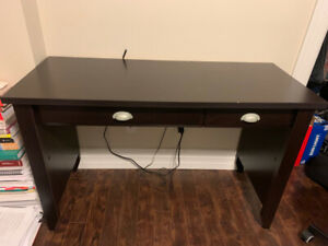 Small Desk and Ikea Office Chair ($30)