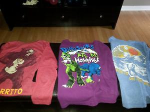 Boys fall tops size 7/8 (medium) and accesories