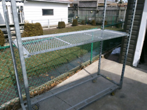 REDUCED!!! $100 Industrial Mobile Shelving