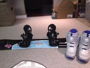 Firefly snowboard combo with K2 boots and K2 bindings London Ontario image 1