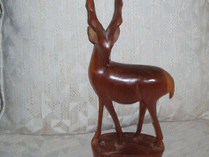 Hand Carved Solid Wood Antelope West Island Greater Montréal image 3