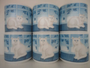 Hot Beverage Cups with cat decor........