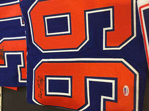 7 authenticated autographed oilers jerseys