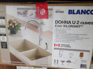 Under mount composite ( mainly granite ) double sink  new in box