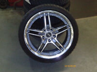 Four BMW 335d wheels and Tires