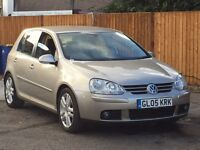 Volkswagen Golf 2005 2.0 Diesel Automatic. BEIGE, Warranty Available. Full Service History £3100