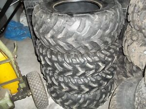 USED SET OF ATV TIRES 25x8x12 and 25x10x12   $100.00
