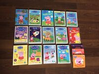 Peppa pig DVDs and books