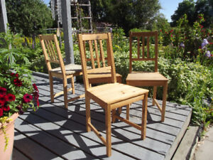 Chairs-all wood 4 matching $40.
