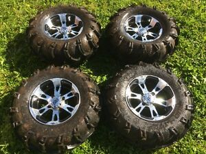 ITP SS wheels with mud lite tires (Yamaha grizzly)