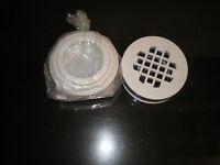 drain de douche blanc maax joint sans collage 2 po