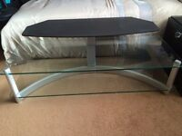 Solid Glass Two Tier TV Cabinet