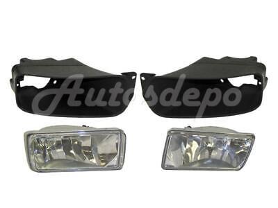 Front Bumper Fog Light with Bezel Trim 4Pcs For Silverado 2500HD 3500HD 2011-14