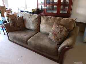 Excellent Condition Leon's Sofa in Olive Green
