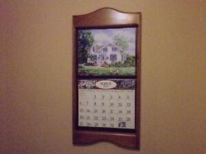 """**Pine Calendar Holder....approx. 29"""" x 14"""" frame...o"""