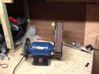 Power craft 240w bench grinder / belt sander
