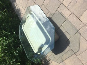 """8 sided glass table top 37"""" x 37"""" x  1/2"""""""