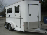 Sundowner Horse Trailer 2 Horse Bumper Pull Tack Room STK #838