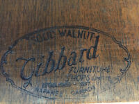 Gibbards Solid Walnut Circa 1920s Dining Table & 6 Chairs
