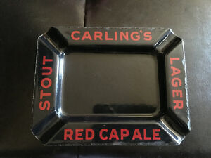Vintage Carling's Red Cap Ale Ash Tray