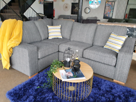 NEW Hein Grey Left Right Hand Corner Sofa DELIVERY AVAILABLE
