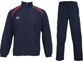 Mizuno Pro Team Tracksuit Woven TRI 60WW852-14 Size Small Mens Navy/Red