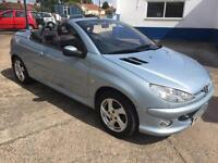 2005 Peugeot 206 1.6 16v 2005MY Coupe Cabriolet Allure 65,000 miles