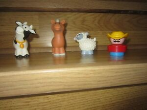 """LITTLE PEOPLE"" ANIMALS & ""FISHER PRICE"" FARMER - $4.00 for LOT"