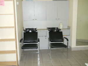Shampoo Station, Shampoo Chairs and Bowls