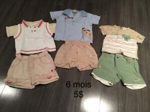 Vêtements de marque pour garçons 3 à 6 mois