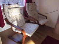 Chair & Footstools ( IKEA Poang )