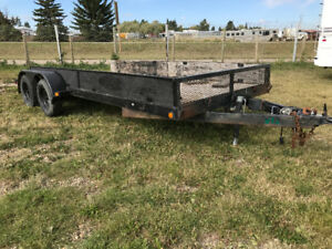 2008 18 Foot flat deck trailer $1800.