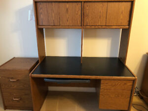 Computer Desk with legal size small filing cabinet