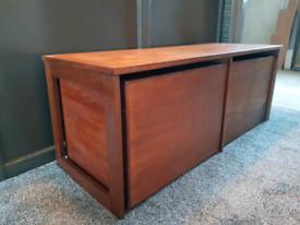 Mid Century Record Cabinet/Vinyl teak table side unit