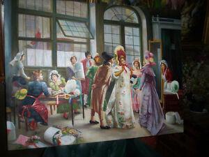 Canevas peinture a l'huile Le conquistador Saint-Hyacinthe Québec image 5