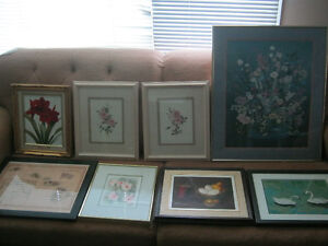 Large collection of picture frames and artwork - only $10