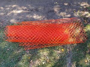 50 feet x 4 feet orange safety fence