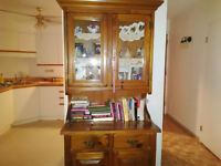 Hutch pine 78 inches tall 17 wide 18 deep price 150.