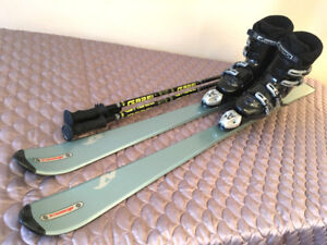 Excellent Size 10 Parabolic Carving Nordic Ski Setup SEE VIDEO