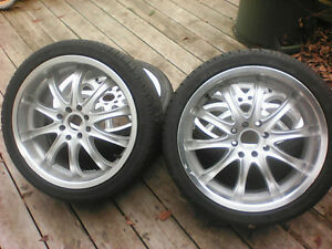 "17"" Rims With Brand New Tires!!! 4x100, 4x114.3 Bolt Patterns"