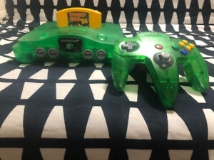 N64 Green Console/Controller + Donkey Kong (with expansion pack)