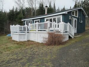 Cabin - 2 bedroom, furnished on waterfront, 1 acre of land