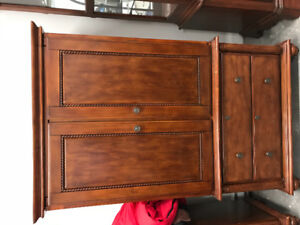 Bedroom furniture. Drawer with mirror. Armoire. Bookcase