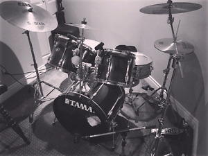 Tama complete drum kit double pedal and cymbals