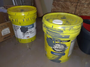 TWO 5 GALLON STAIN GREY IN COLOR
